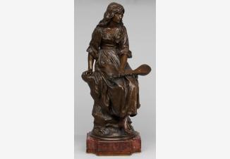 «Сидящая девушка с мандолиной» Модель скульптора П.Э.Манжина. Ф-ка братьев Сюсс